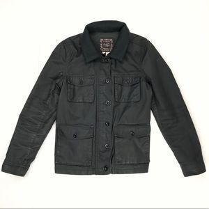 J. Crew Washed & Aged Almost Black Utility Jacket